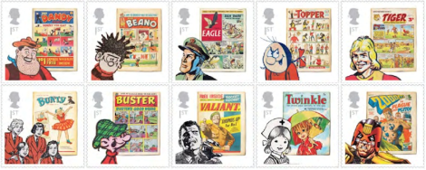 British comic stamps from the Royal Mail