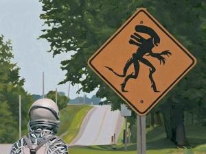 Alien Crossing, by Listfield.