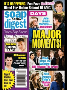 Casting news and spoilers in Soap Opera Weekly.