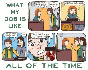 Kate Leth Comic, What My Job Is Like, Kate Or Die, comic book retail, women in retail, Beware the Valkyries