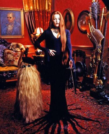Gillian Anderson as Morticia Addams